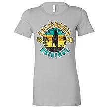California Original Vintage Surfer Ladies Lightweight Fitted T-Shirt