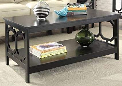 Amazon Com Cofee Table Center Tables For Living Room Glossy Black