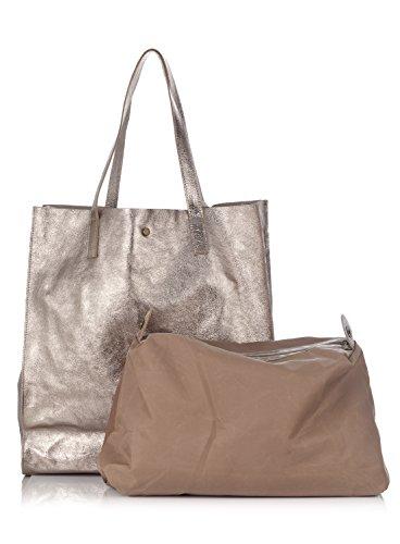 style Laura provisions cuir brillant Moretti Sac à en sac Bronze ww6qHPC7x