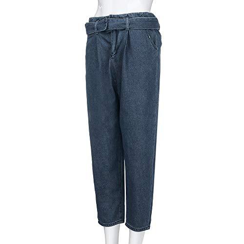iLUGU Women Hight Waisted Loose short dress Bow Bandage Hole Denim Jeans Stretch Pants Jean by iLUGU (Image #2)