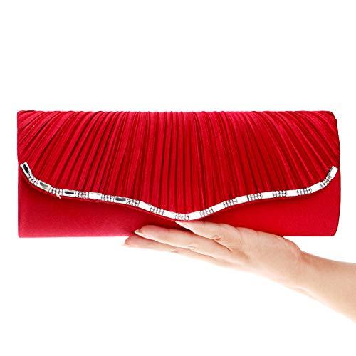 Embrayages Dames Sac À Main Des Femmes Des Porte-monnaie Sacs De Soirée De La Chaîne Robe Pu Mariage Noir Rouge