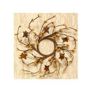 Mini Pip & Rusty Star Candle Ring/Wreath 50