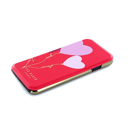 Official TED BAKER® SS17 Fashion Branded Mirror Folio Case for iPhone 6S / 6, Protective High Quality Wallet iPhone 6 / 6S Cover for Professional Women - FRANY - Valentine