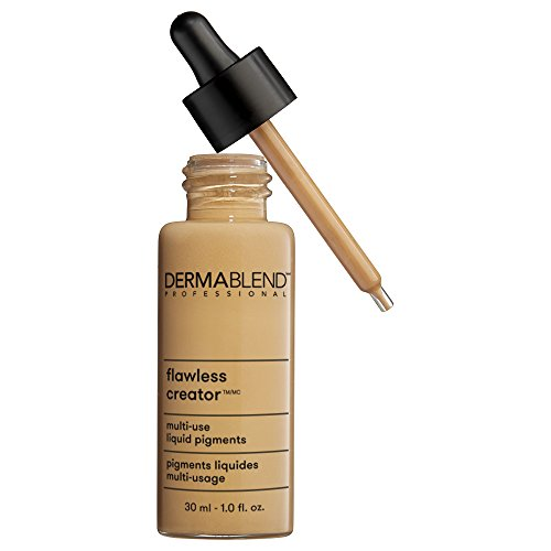 Dermablend Flawless Creator Liquid Foundation Makeup Drops, Oil-Free, Water-Free, 43W, 1 Fl. Oz.