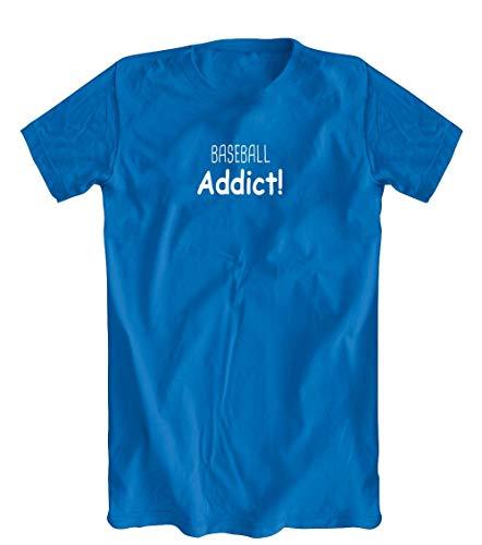 Baseball Addict! T-Shirt, Blue, XX-Large