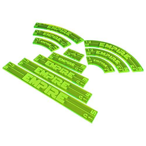 LITKO Space Fighter 2nd Edition Empire Maneuver Gauge Set, Fluorescent Green (11)