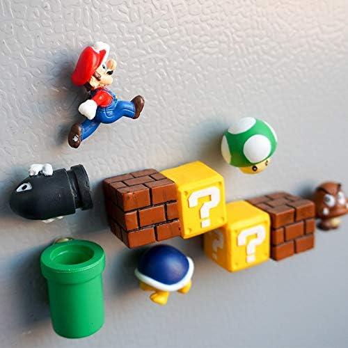 10 Piezas 3D Super Mario Bros. Imanes de Nevera Etiqueta de Mensaje de refrigerador Chicas Divertidas Niños Niños Niños Estudiante Juguetes Regalo de cumpleaños: Amazon.es: Coche y moto