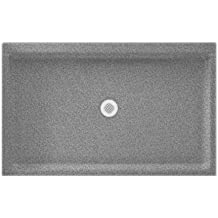 Swanstone SS-3454-042  Shower Base with Center Drain, Gray Granite