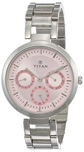 Titan Youth Analog Pink Dial Women's Watch NM2480SM05/NN2480SM05