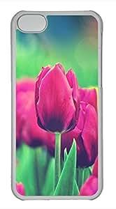 iPhone 5c case, Cute Pink Tulips 2 iPhone 5c Cover, iPhone 5c Cases, Hard Clear iPhone 5c Covers