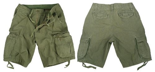 Rothco Vintage Infantry Shorts, Olive Drab, Small by Rothco (Image #1)