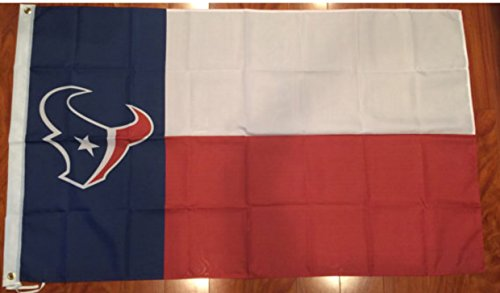 Houston Texans 3 Feet X 5 Feet Football Flag Banner Bar Decor Man (Houston Texans Flag)