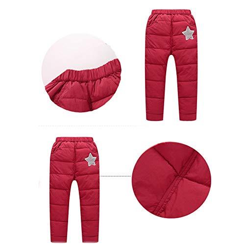 21bb2ebe07683 キャンデイ(candy88)子供服 キッズダウンパンツ 柔らかい シンプル あったか 防寒 軽量 ズボン 男の子
