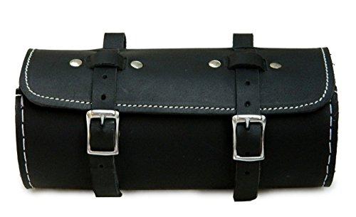 Bicycle Leather Saddle Bag Utility Tool Kit black retro style classic bike