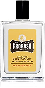 Proraso Single Blade After Shave Balm, Wood and Spice, 3.4 fl. oz.