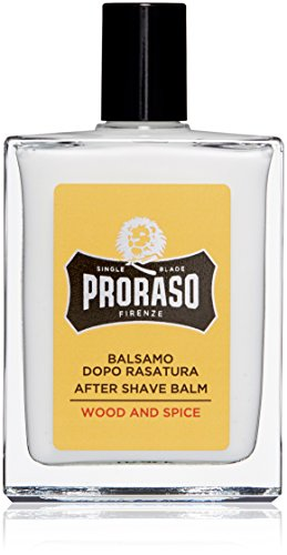 Proraso Single Blade After Shave Balm, Wood and Spice, 3.4 fl. oz Spicy Wood