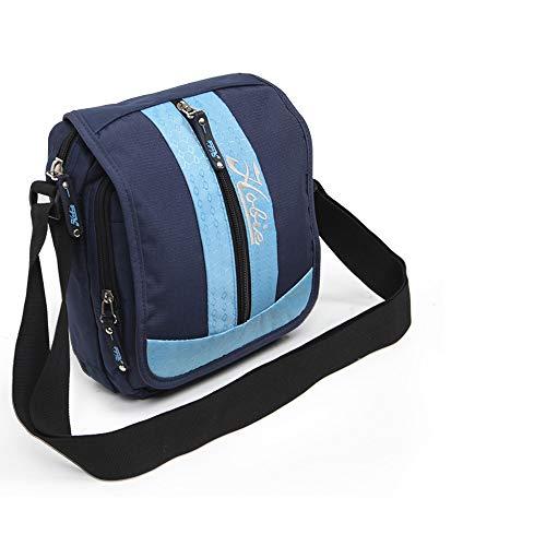 NEWCOM Messenger Bag Casual Water Resistant Crossbody Shoulder Bag Classic Sling Bag Purse Mini Satchel for Men School Travel Unisex ()