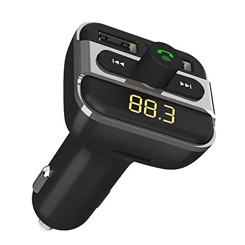 Bluetooth FM Transmitter for Car, GRDE Bluetooth Car Adapter