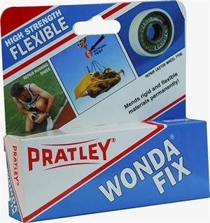 Ceramic Glue - 2 Part Epoxy Plastic Adhesive - Cream Colored Flexible Metal, Rubber, Leather and Porcelain Repair Kit by Pratley