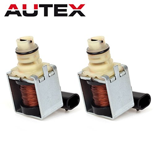 AUTEX 2PCS 4T65E Transmission Shift Solenoid Control Valve 1-2 & 3-4 A&B Kit for 97 Up GM Buick Chevrolet Pontiac (Volvo Shift Transmission)