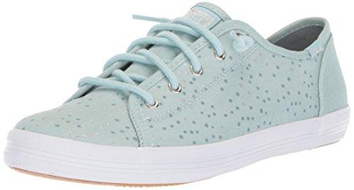Keds Girls' Kickstart Seasonal Sneaker, Blue 400, 4 Medium US Big Kid