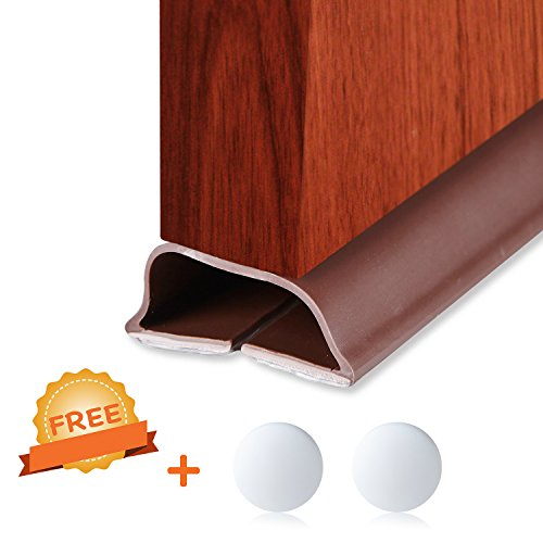 Under Door Bottom Seal, Extra Durable Weather Stripping Works for Most Door Gap, 39
