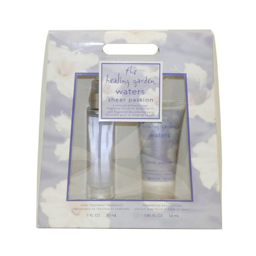 Healing Garden Waters Sheer Passion By Coty For Women. Gift Set (Body Treatment Fragrance Spray 1.0 Oz & Shimmering Body Lotion 1.85 Oz).