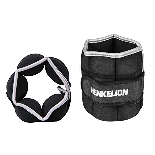 Henkelion Adjustable Ankle Weights for Women Men Kids, 4lbs 6lbs 10lbs Each 2lbs 3lbs 5lbs Wrist Weights Ankle Weights Sets for Gym, Fitness Workout, Running, Lifting Exercise Leg Weights