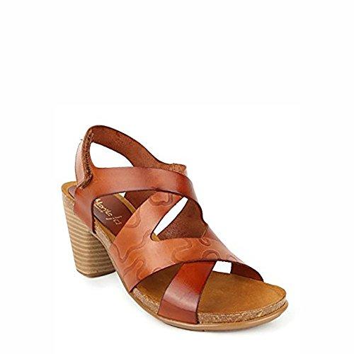 Sandalia piel cuero. Velcro talon. Talla 39