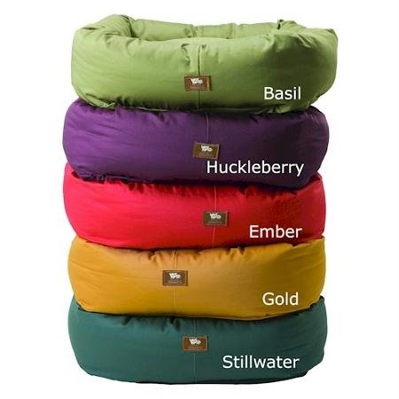 West Paw Design Organic Bumper Stuffed Dog Bed Organic Cotton, Basil/Basil – Large 37″ x 32″, My Pet Supplies