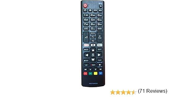 Nuevo Mando de reemplazo para el LG TV AKB75095308 Ajuste para Varios TV Ultra HD de LG con Netflix Amazon Botones 43UJ6309 49UJ6309 60UJ6309 65UJ6309: Amazon.es: Electrónica