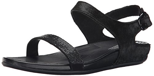 FitFlop Women's Banda Micro-Crystal Dress Sandal, All Black, 10 M US by FitFlop