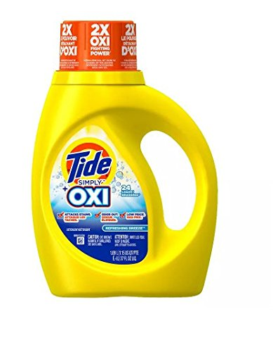 Regular 。タイドHe Laundry Detergent with Oxi Liquid Simply Clean & fresh37.0オンス(1pk) B07D3BLGTC