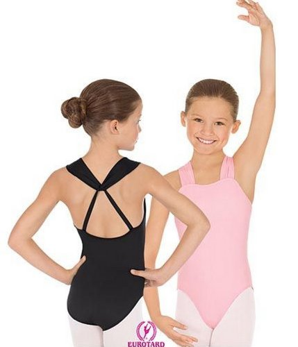 Eurotard 4494cBlackL Girls Leotard, Black, Large -