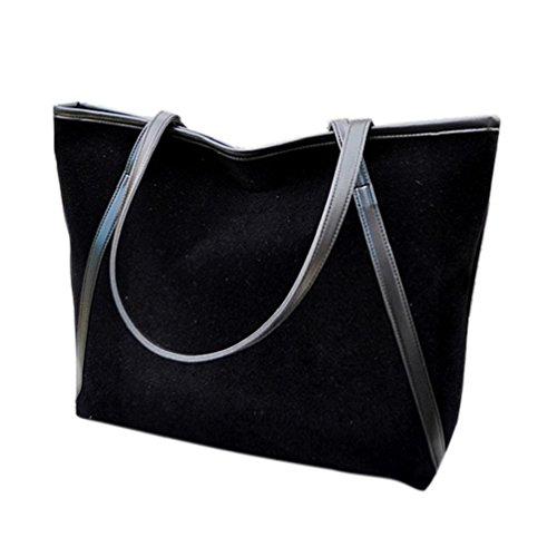 Suede Messenger Simple Women Large New Bag Leather Bluester Black Capacity gSXPq8w