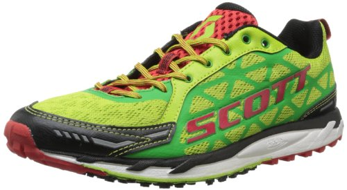 Scott Running Men s Trail Rocket Mens Running Shoe,Green Red,12.5 D US
