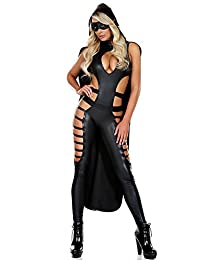 Ladies Sexy Jumpsuits Top Totty Hollow Out Leather Catsuit Catwoman Nightclub