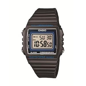 Casio W-215H-8AVEF, Reloj Digital de Cuarzo para Hombre con Correa de Resina, Color de la Correa Negro