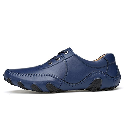 Go Shoes Mens 1 Blue Loafers Tour Casual Driving Leather zzwqrYx