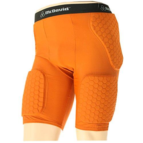 McDavid Mens Thudd Football Compression Shorts 757T Texas Or