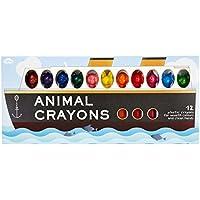Animal Crayons Ship 12 Pack