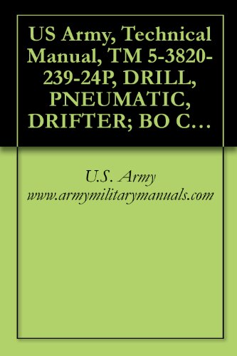 - US Army, Technical Manual, TM 5-3820-239-24P, DRILL, PNEUMATIC, DRIFTER; BO CRAWLER-MOUNTED; SELF-PROPELLED (NSN 3820-00-854-4149) INGERSOL MODEL CM 150A/D475A, military manauals
