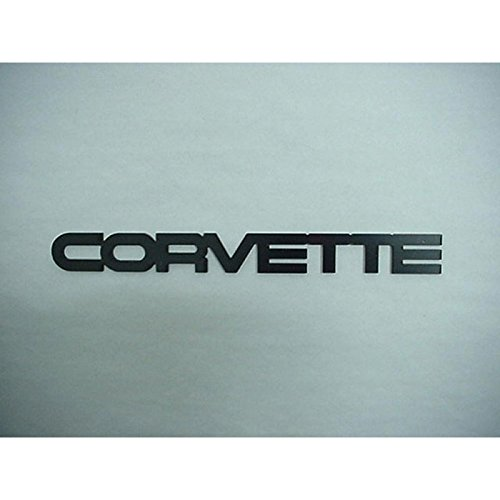 Rear Bumper Emblem (Eckler's Premier Quality Products 25109205 Corvette Rear Bumper Emblem Acrylic Black)
