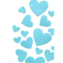 Edible Wafer Gluten GMO Dairy Sugar Nut Soy Free Blue Hearts