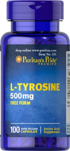 Fierté L-Tyrosine du puritain 500 mg-100 Capsules
