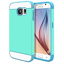 Galaxy S6 Case, MagicMobile® Cute Ultra Slim Protective [Hybrid Impact] Hard Durable Thin TPU Cover for Samsung Galaxy S6 Case Armor Shell [ Turquoise - Light Blue ]with Clear Screen Protector