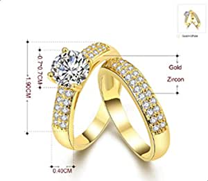 Women ring consists of two rings studded Erstal Size 9
