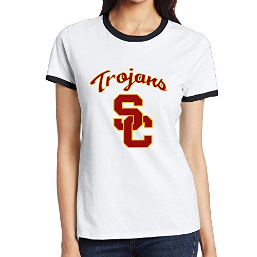NINJOE Women's Classical Usc Trojans Football Running T-Shirt Black S