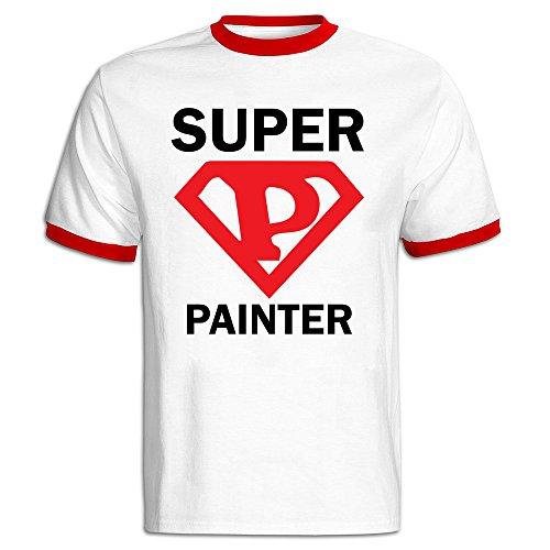 super-painter-male-baseball-tee-shirt-red