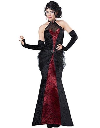 Black Widow Spider Costume (California Costumes Women's Black Widow Woman, Wine,)